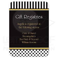 bloomingdale bridal gift registry black white and yellow polka dots and striped gift registry