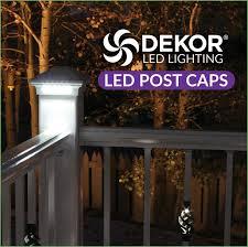 lighting solar led deck post cap lights solar lighted deck post