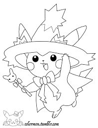 coloring pages pikachu look at how cute pikachu is all dressed up for halloween gotta