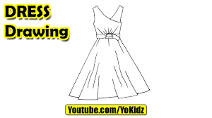 how to draw a dress easy for kids youtube