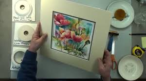 how to mat an artwork hinging and mounting by our professional