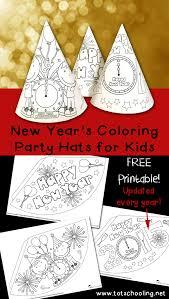 u0027s coloring party hats totschooling toddler preschool