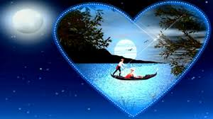 lakes full night romantic fantasy love couple magic moon lake