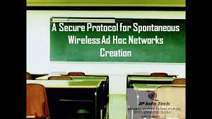 a secure protocol for spontaneous wireless ad hoc networks
