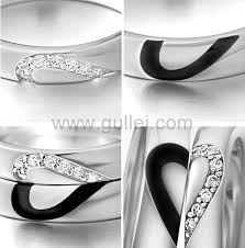 couples wedding bands personalized engravable half heart wedding rings for couples