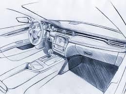 Interior Design Sketches Maserati Quattroporte Interior Skt More Sketching Drawing