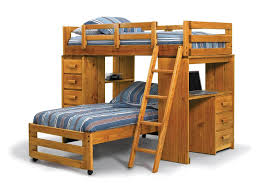bunk beds l shaped bunk bed plans with natural brown solid wood