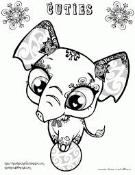 awesome littlest pet shop coloring pages littlest pet shop