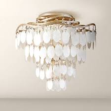 shell ceiling light dolce capiz shell 16 wide semiflush ceiling light k8497