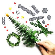 metal christmas tree wreath cutting dies molds diy paper craft