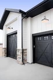 Soo Overhead Doors Black Garage Door Paint Color Sherwin Williams Tricorn Black