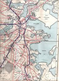 Boston Mbta Map Submission U2013 Historical Map Boston Elevated Transit Maps