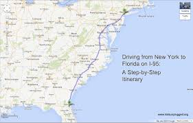 Map East Coast Florida by Driving From New York To Florida U2013 A Step By Step Itinerary Kids