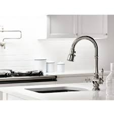 Kohler Single Hole Kitchen Faucet Kohler K 99261 2bz Artifacts Oil Rubbed Bronze Pullout Spray