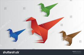 dinosaurs origami vector cute beast purpose stock vector 648960019