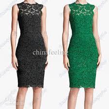 sleeveless moire lace dress back bow women dress round neck dress