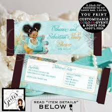 candy bar wrappers turquoise blue gold and silver afro puffs