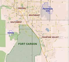 fort carson map colorado springs information