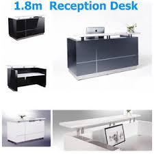 Grey Reception Desk 1 5m 3 2m Office Reception Desk Counter High Metallic Grey Black