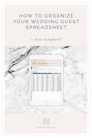 Wedding Planning Spreadsheet Template 7 Free Wedding Guest List Templates And Managers