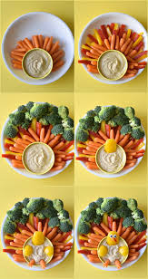 the ultimate turkey veggie platter fork and beans