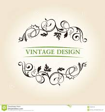 vintage decor label ornament design emblem stock image image