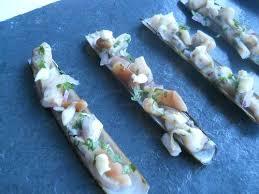 cuisiner des couteaux recette couteaux sautés mayonnaise au wasabi 750g
