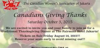 canadian thanksgiving dinner event