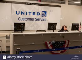 United Airlines Customer Service Desk At Philadelphia International