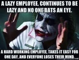 Lazy Eye Meme - lazy employee meme