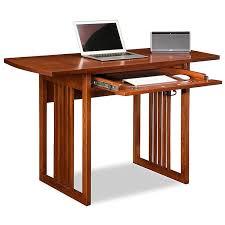 Home Computer Desks Amazon Com Leick 82420 Mission Oak Drop Leaf Computer Writing