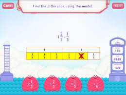 subtract mixed numbers using models worksheets 4th grade math