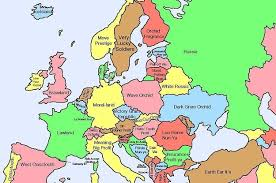 european countries on a map here s a map of european countries with literal translations of