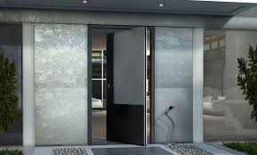 Porte Entree Grande Largeur Porte D U0027entrée Pivotante à Axe Excentré En Aluminium Zen