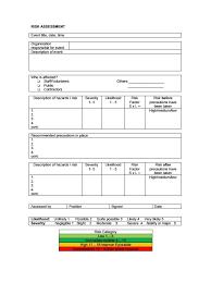 risk description template risk assessment template the letter sle