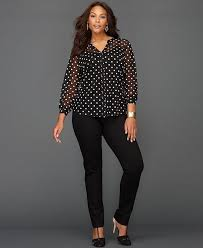 black polka dot blouse 30 polka dot pieces for plus size babble