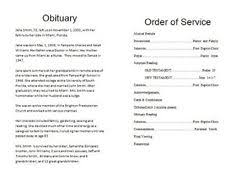 how to make a template for an obituary how to make a funeral