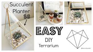 home decor diy succulent planter youtube