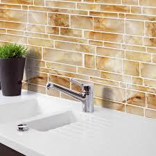 yellow imitation marble home decor brick tile kitchen bathroom