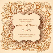 wedding invitation ornaments floral vector vector card free