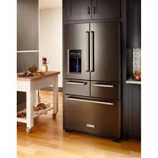 Kitchenaid Counter Depth French Door Refrigerator Stainless Steel - kitchenaid krmf706ebs 25 8 cu ft multi door freestanding