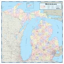 Detailed Map Of Michigan Michigan State Atlas U0026 Gazetteer Maps Com