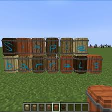 Minecraft Blinds Simple Barrels Mod 1 10 2 1 9 4 Minecraft Mods 1 10 2 Vanilla