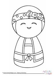 kokeshi doll colouring 3