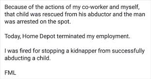 when do people line up home depot black friday employee who saved child from kidnapper gets fired for his