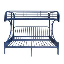 acme furniture eclipse navy twin over full metal bunk bed 02091w