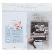 blank wedding programs 100 preprinted blank wedding programs girl boy design