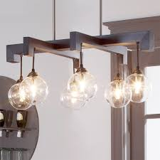 glass chandelier globes glass globe wood frame chandelier shades of light