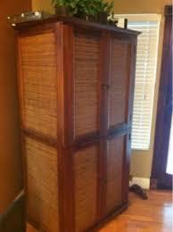 175 obo pier 1 wicker u0026 wood armoire tv stand cabinet for sale