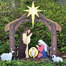 teak isle outdoor nativity sets american made manufactured